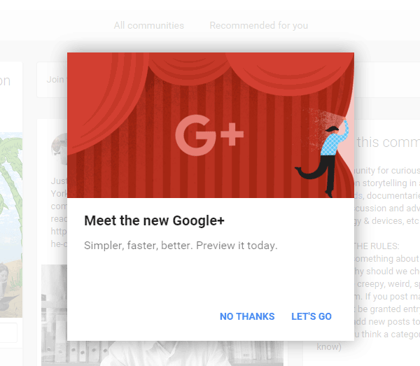 The all new Google+