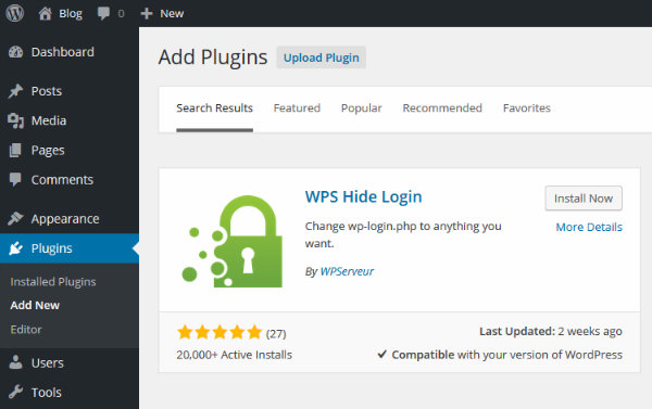 Installing WPS Hide Login