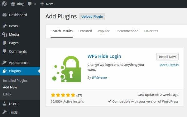 Installing WPS Hide Login