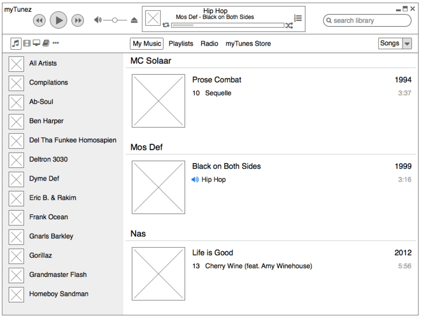Protoyping tools like Balsamiq enable you to get visual concepts across quickly.
