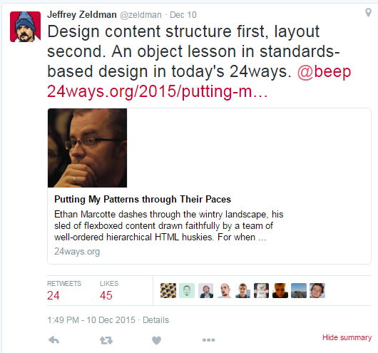 Web design influencers on Twitter