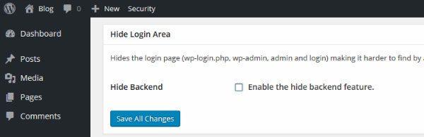 iThemes Security Custom Login URL
