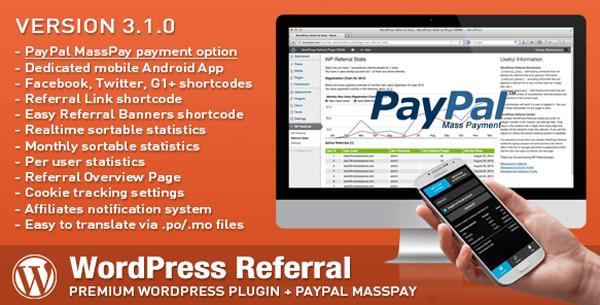 WordPress Affiliate & Referral Header