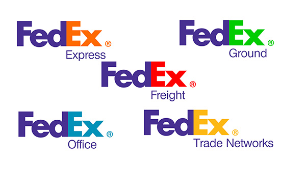 Typography used in FedEx logo