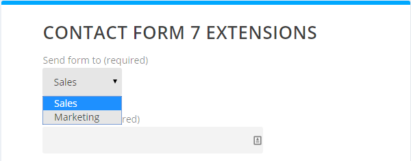 Best Contact Form 7 Extensions Drop Down