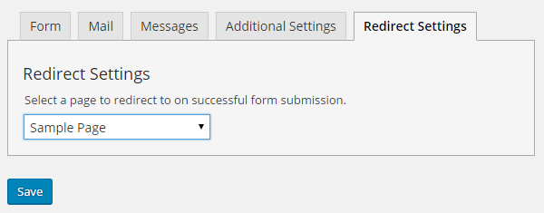 Simply choose a page from a drop down menu