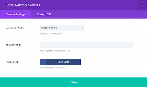 Divi select a network