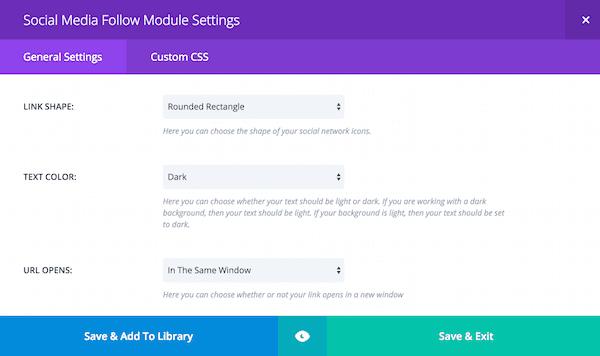 Divi social icon customization