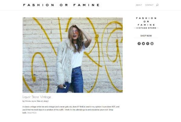 Fashion or Famine