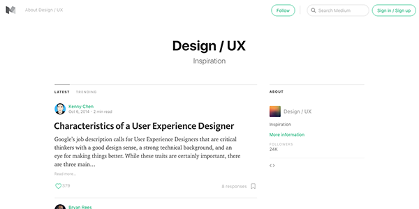 Medium-Design-UX