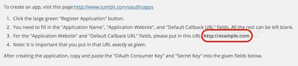 Tumblr Example URL