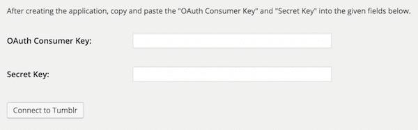 WordPress Tumblr Keys