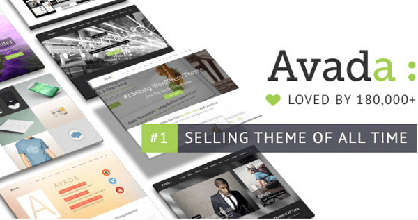 The official Avada header taken from their Themeforest homepage.