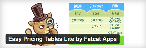 The official header for Easy Pricing Tables Lite.