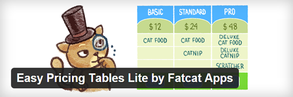 The Easy Pricing Tables Lite official header.