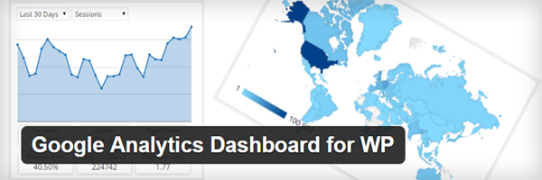 The official Google Analytics Dashboard for WP header.
