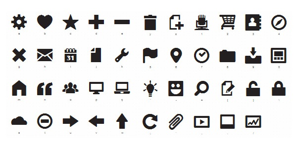Icon Fonts typography trend
