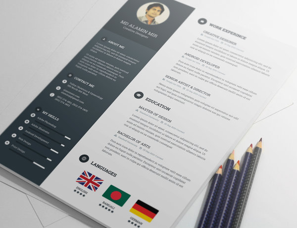 20 free resume design templates for web designers elegant alamin mir resume template design alamin mir resume yelopaper Choice Image