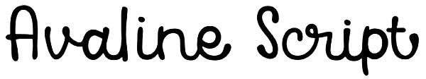 Avaline Script