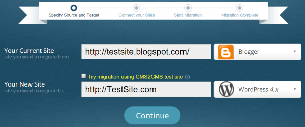 CMS2CMS Blogger to WordPress Converter 3