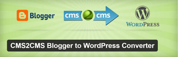 CMS2CMS Blogger to WordPress Converter