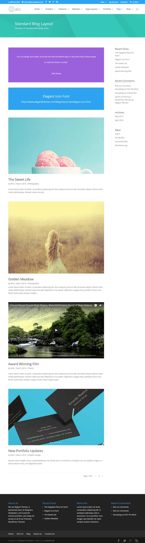 Divi-blog-standard