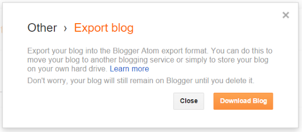 Export from Blogger 2