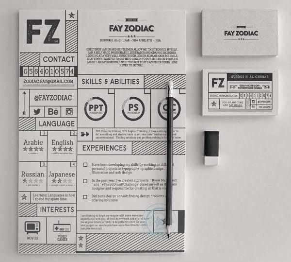 Fay Zodiac Resume