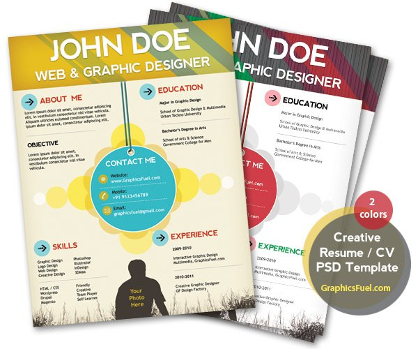 Graphics Fuel Resume Template