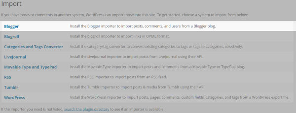 Import to WordPress 2