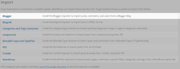 Import to WordPress 2