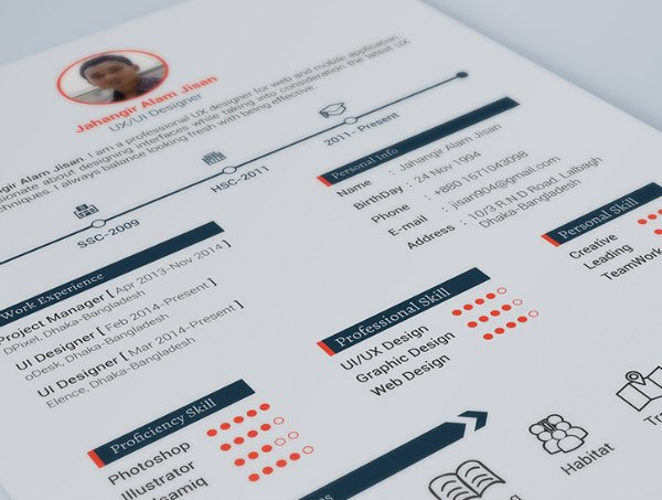 20+ Free Resume Design Templates For Web Designers | Elegant