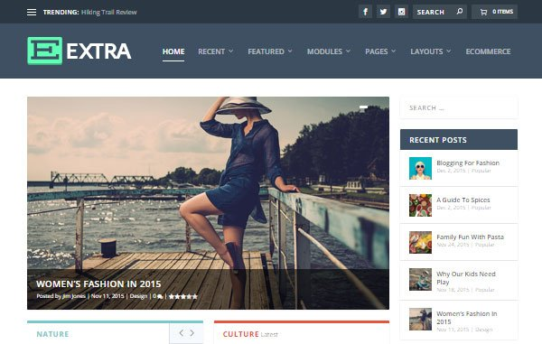 magazine web design extra theme