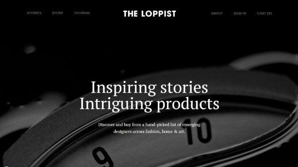 Magazine Web Design Loppist