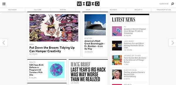 Magazine Web Design Wired