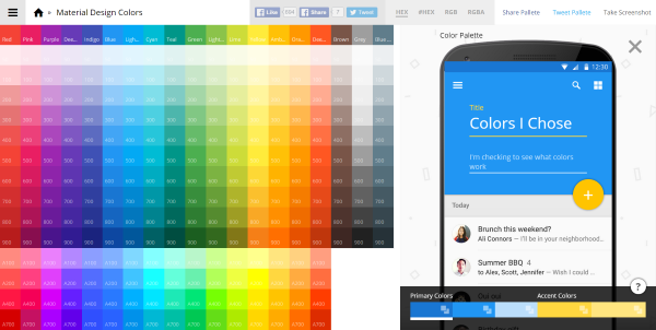Material Design Colors 2