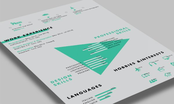 20 free resume design templates for web designers elegant continuing with the mint color schemes next up we have paolo pettigianis beautifully clean cv template pronofoot35fo Choice Image