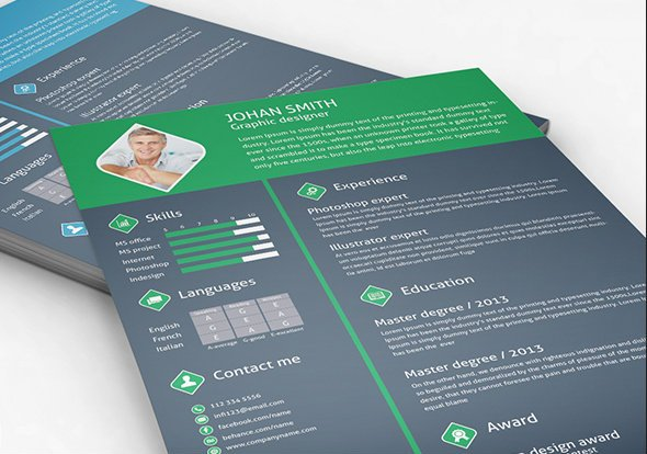 20 free resume design templates for web designers elegant themes blog nawas sharif resume yelopaper Images