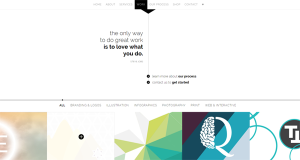 A screenshot from the Aline Collective website.
