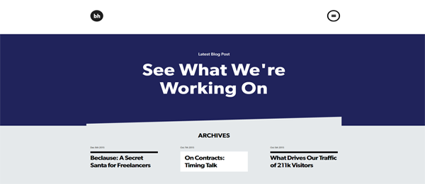 A screenshot of Brian Hoff's homepage.