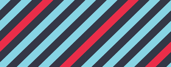 A banner showing blue, black, and red lines.