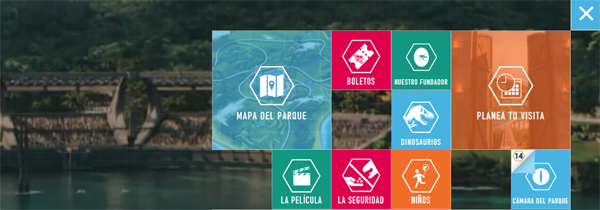 A good example of contrasting colors on an interface, taken from the Jurassic World website.
