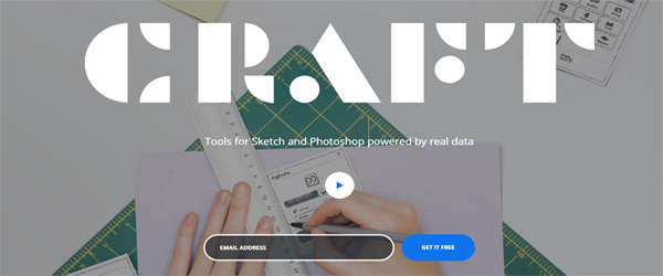 A screenshot of the Craft by InVision homepage.