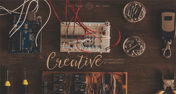 A screenshot from the Creative Technologies website.