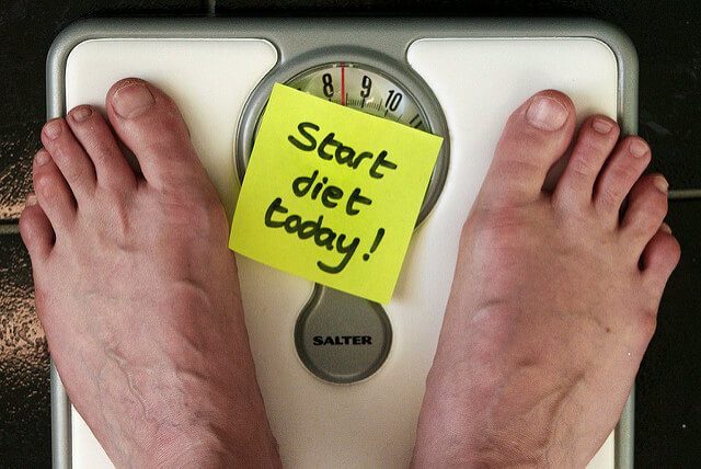 Diet scale with note