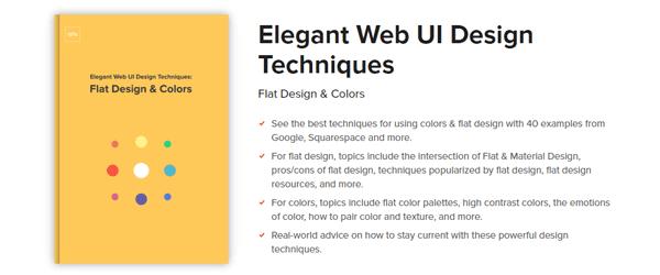 A screenshot of the Elegant Web UI Design Techniques book homepage.