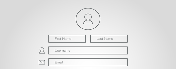 A generic sign up form.