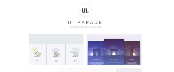 A screenshot from the UI Parade homepage.