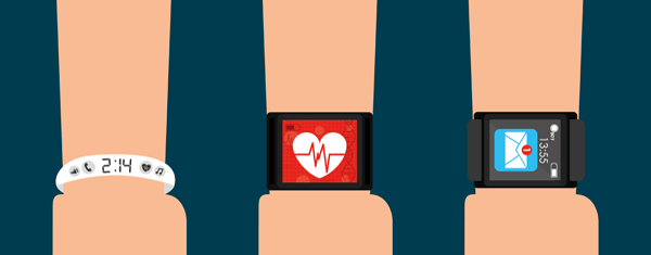 A collection of wearable wrist devices.