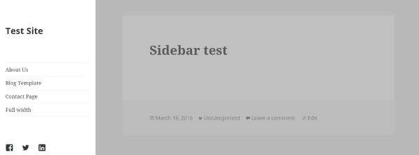 StyleSheet with sidebar